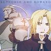"jordannamorgan: Alphonse and Edward Elric, ""Fullmetal Alchemist"". (FMA Al & Ed)"