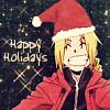 """jordannamorgan: Edward Elric, """"Fullmetal Alchemist"""". (Christmas)"""