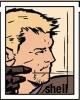 umbo: Aja Hawkeye in profile loosing an arrow (hawkguy loosing arrow)
