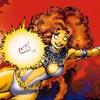 halialkers: Starfire of New Teen Titans, orange alien with glowing fist in stripperific bikini (Revcekar H'vat Kanari)
