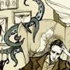 architeuthis: tentacle monster creeping up on seated Lovecraft (writing is even harder when I'm around)