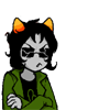 cmshaw: Nepeta wears Equius's sunglasses and his scowl (Nepeta pawns)