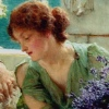 "carmarthen: a Roman lady from the Alma-Tadema painting ""Unwelcome Confidences"" (alma-tadema, femslash)"