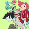 actionreaction: art by <user name=natazilla site=tumblr.com> ([adventure time] marshall lee x gumball)
