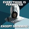 hostilecrayon: Everything is Permitted, except swimming. Altair (Except Swimming)
