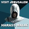 hostilecrayon: Visit Jerusalem, Harass Malik, Altair (Harass Malik)