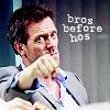 hostilecrayon: House fistbump, bros before hos (Bros Before Hos)
