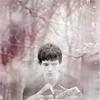 rhianona: Merlin b&w in woods from BBC's Merlin (Merlin)
