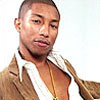 actionreaction: photo of pharrell williams leaning back, smirking slightly ([characters] blaise)