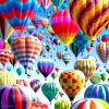 el_staplador: sky crowded with hot air balloons (lots of balloons)