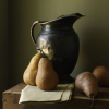 quillori: painting of a pitcher and some pears (cooking: pitcher and pears)