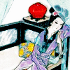 quillori: woman on a daybed (mood: tired, mood: pensive, mood: ennui)