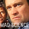 "minxy: Rodney McKay looking angry, with the words ""mad science"" (Mad science)"