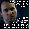 "mari4212: ""Okay, you don't just have issues.  You have the full set of collectable binders (issues)"