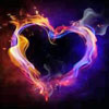 doro: heart shaped by dragons of colored light (primwood primula_baggins hearts)