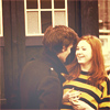 lindes: Matt Smith and Karen Gillan outside the TARDIS (DW: Matt and Karen)