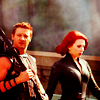 glinda: clint & natash from the avengers walking into battle (clint/natasha)