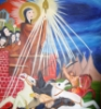 """cjbanning: """"Saint Clare of Assisi Vanquishes the Four Horsemen of the Apocalypse"""" (Saint Clare)"""
