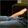 highlander_ii: image of House's legs as he sleeps on the couch ([House] sleeping onna couch - legs)
