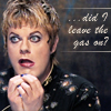 "marginaliana: Eddie Izzard miming a concerned squirrel - ""did I leave the gas on?"" (Izzard - did I leave the gas on)"