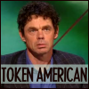 "marginaliana: Rich Hall - caption ""Token American"" (Rich Hall - token American)"
