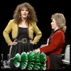 marginaliana: Sandi Toksvig and Josie Lawrence playing 'props.' Sandi is using a Christmas tree as a penis. (WL - Christmas tree cock)