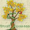 serpentsgarden: green snake twists around an apple tree (Default)