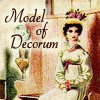 mab_browne: Icon from a nineteen seventies Georgette Heyer book cover.  Text: Model of Decorum (Model of Decorum)