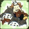 daemonluna: default icon, me with totoros (totoro)
