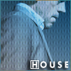 highlander_ii: profile of House with blue texture overlay, text 'House' ([House] is blue)