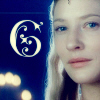 "starlady: Galadriel in Caras Galadhon, with an ornate letter ""G"" (galadriel is a G)"