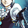 sineala: Franziska von Karma (from Ace Attorney) holding out her hand (Ace Attorney: Franziska's hand)