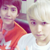 softcloud: superjunior ಌ kyumin (sunset of pinks and pale yellows)