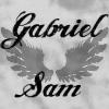 gabrielsam: text: Gabriel Sam ([grey] text)