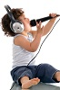 paraka: A baby wearing headphones and holding a mic (NF-Baby w Mic) (Default)