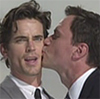lovelokest: white collar-  peter burke kisses neal caffrey (neal and peter kiss)