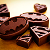 van: batman superman treats (comics bats supes chocolates)