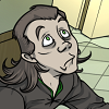 loki_of_sassgaard: Fanart of Loki looking upward, looking vaguely frightened (Loki O_O)