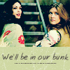 "gamerfic: Kaylee and Inara looking over their shoulders, with text ""We'll be in our bunk""  (Default)"