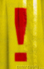 aberrantux_musebox: A red exclamation mark on a shiny yellow backdrop. (Divis Mal, generic, Trinity Continuum)