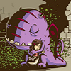 catwalksalone: A big purple monster hugs his best friend (jellaby and portia)