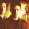 lilyleia78: Sam, Dean and Cas standing together (Supernatural: Trio)