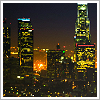 feuille: la skyline (downtown la at night)