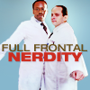 "goodbyebird: Better Off Ted: Lem and Phil bump chests, ""Full frontal nerdity."" (BoT chestbump made of nerd)"