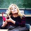 goodbyebird: Community: Britta removes her headphones. (Community discmans are retro!)