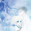 azurite: Usagi and Mamoru from the SM manga, with Serenity & Endymion in the background (sailormoon - usamamo serendymion)