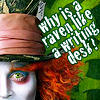 silentflux: (Alice - mad hatter & quote)