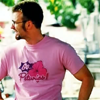 gblvr: screencap of Jensen in his pink Petunias t-shirt (The Losers -- Go Petunias!)