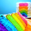 bossymarmalade: rainbow layer cake (each a different flavour of jello)