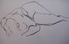 metawidget: Drawing of a prone nude woman (drawing)